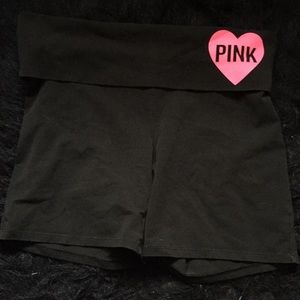 Pink biker yoga shorts SO CUTE ON